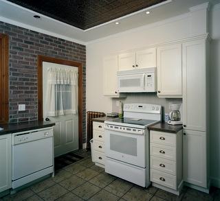 Caissons style shaker et faux fini fonc sur armoires de for Caisson armoire de cuisine