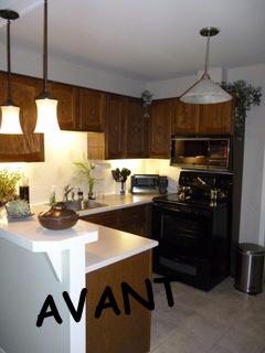 Restauration armoires de cuisine en bois de chene - Restauration armoires de cuisine en bois ...