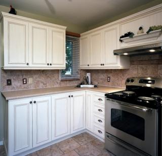 Armoires de cuisine armoires de cuisine beige or - Armoire de cuisine blanche ...
