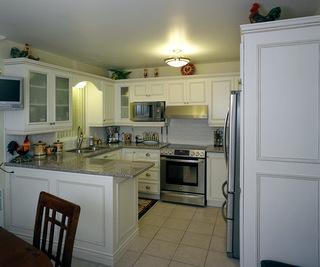 Armoires de cuisines avec ajout de moulures champ tres for Moulure armoire cuisine